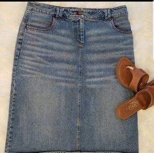 Calvin Klein Denim Skirt Size 10